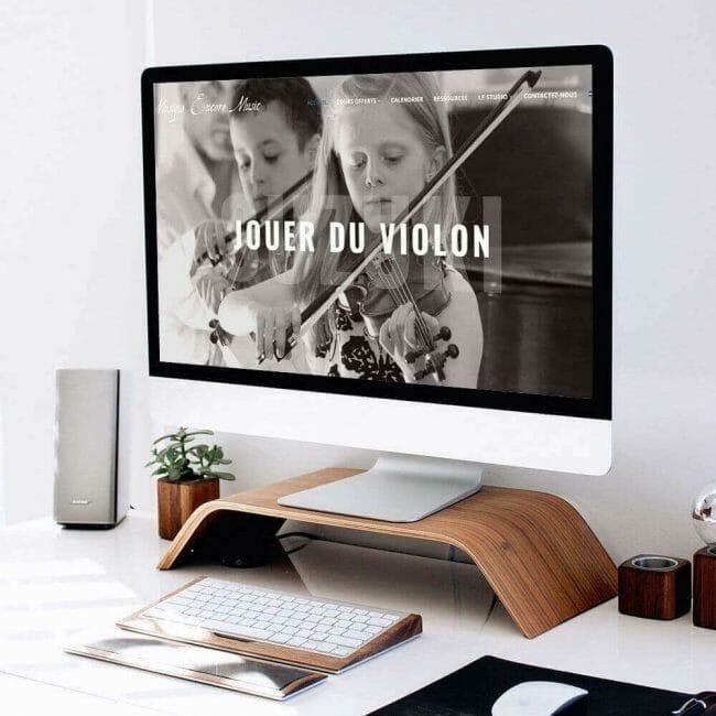 Capture d'écran du site Web de l'école de Musique Encore Music