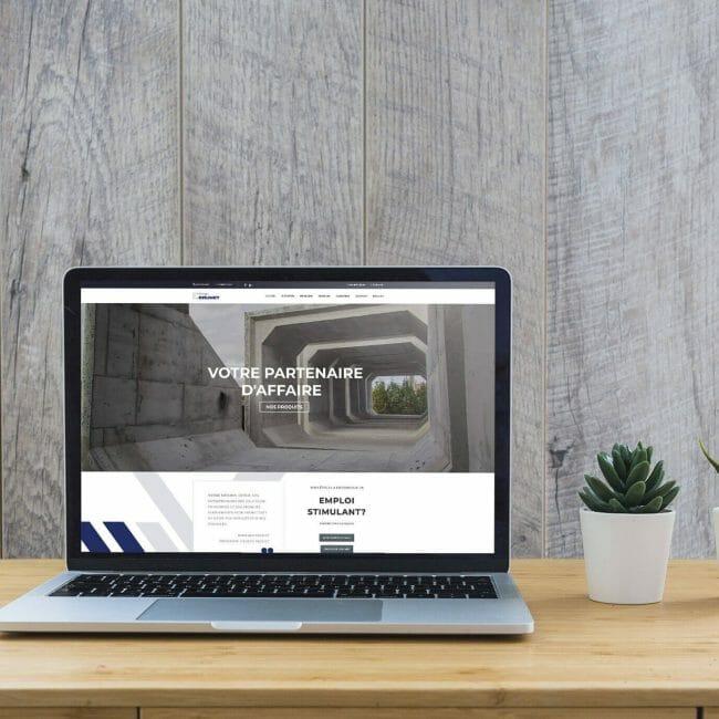 Capture d'écran du site Web du Groupe Brunet que nous avons créé