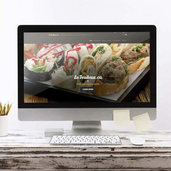 Capture d'écran du site Web LeTraiteur.ca que nous avons traduit